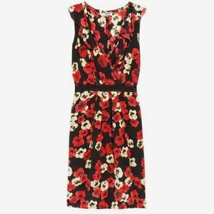 Moschino cheap & chic floral silk crepe dress
